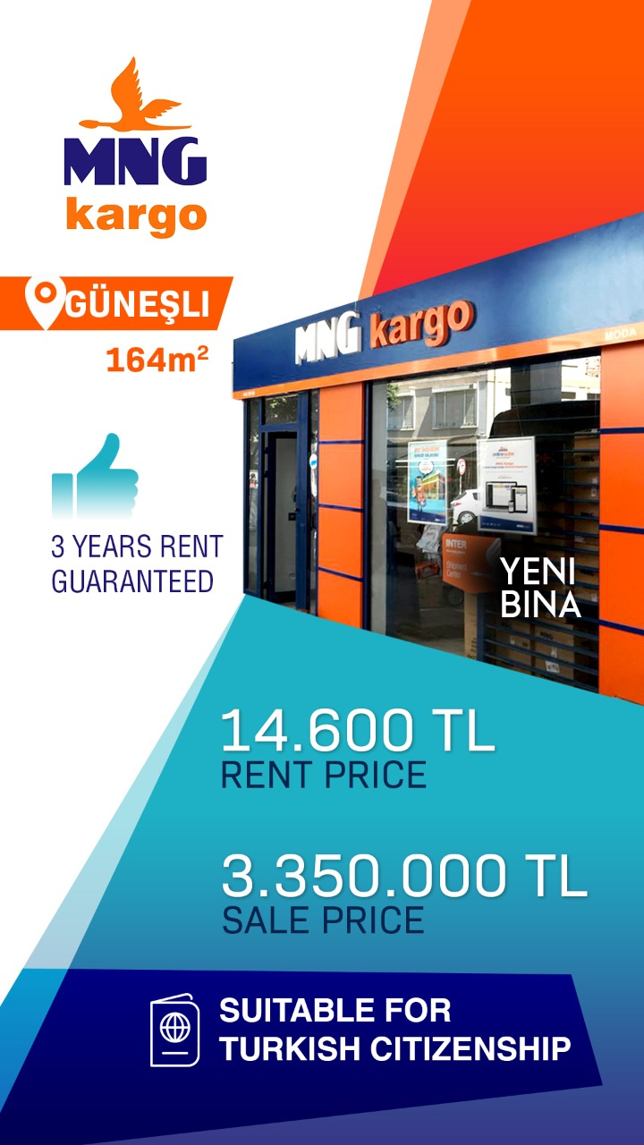 MNG kargo Commercial Store For Sale in Istanbul