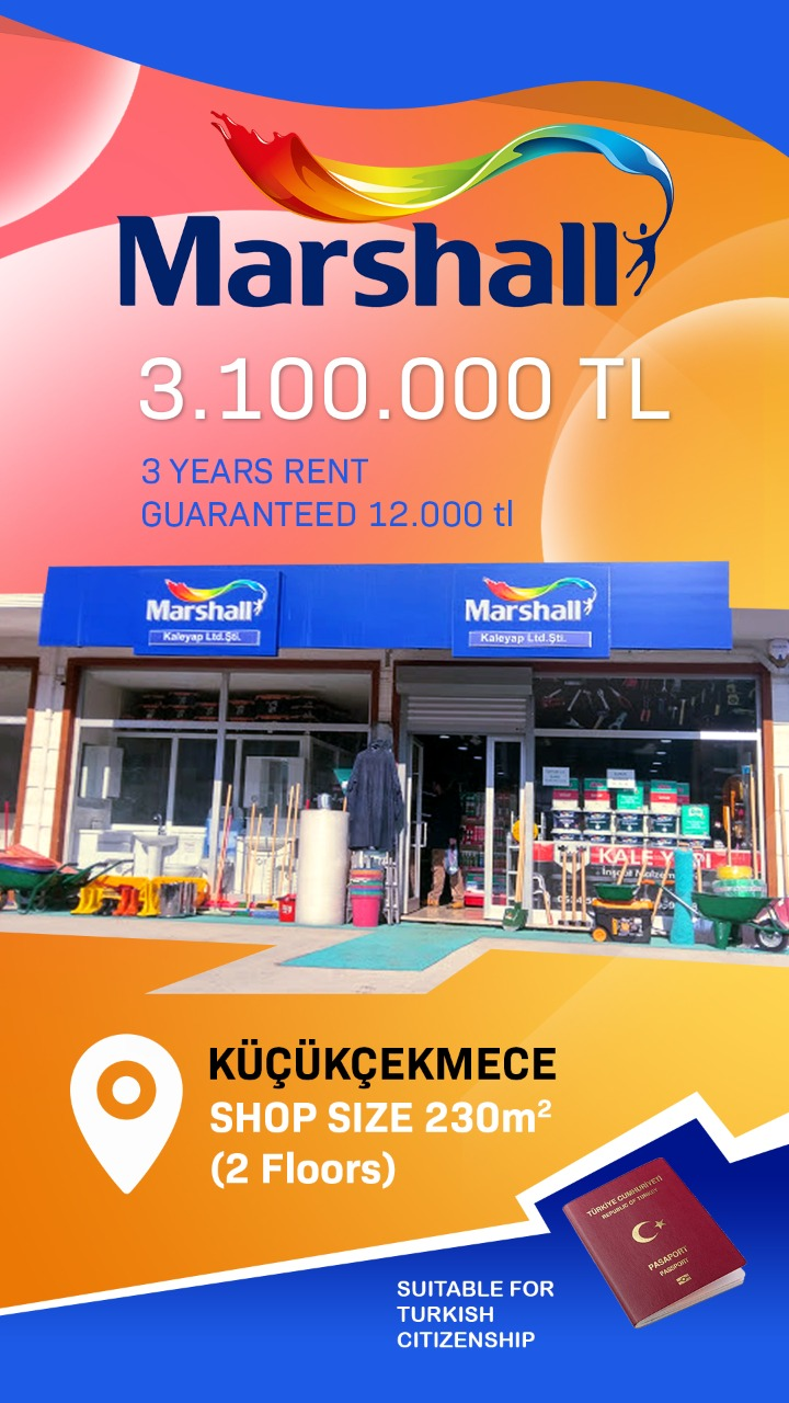 Marshall Commercial Store For Sale in Istanbul