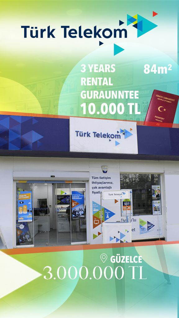 Turk Telekom Commercial Store For Sale in Istanbul