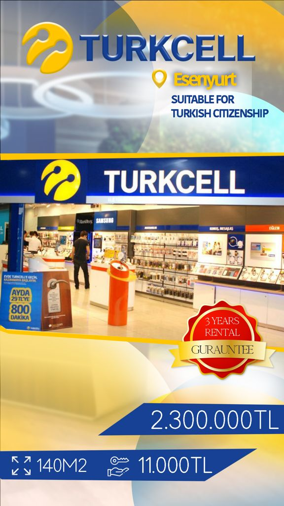 turkcell Commercial Store For Sale in Istanbul
