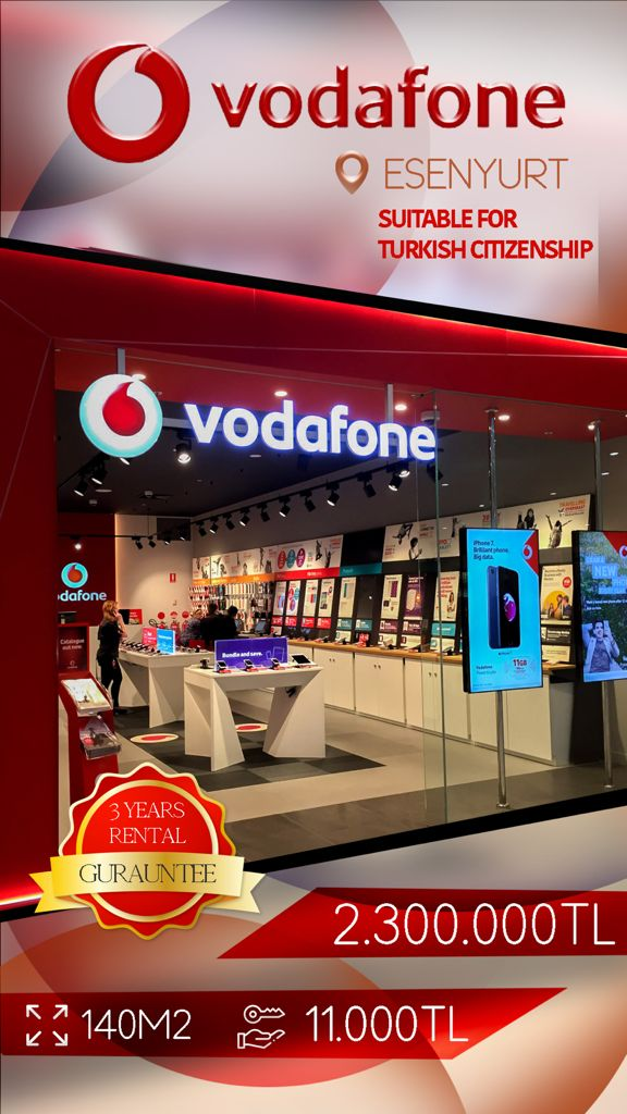 vodafone Commercial Store For Sale in Istanbul